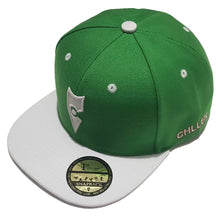 Load image into Gallery viewer, chillen chllen lifestyle wear green-white snapback hat 1st edition