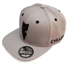 Load image into Gallery viewer, grey black snapback hat cap lifestyle wear chllen chillen clothing chillin apparel