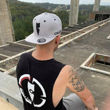 Load image into Gallery viewer, chillen chllen lifestyle wear grey-black snapback hat cap black tank top singlet