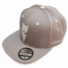 Load image into Gallery viewer, grey white snapback hat cap lifestyle wear chllen chillen clothing chillin apparel
