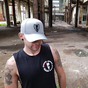 chillen chllen lifestyle wear grey black a-frame snapback hat cap