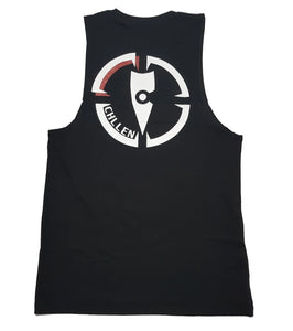 chillen chllen lifestyle wear kids black tank top singlet long