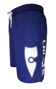 chillen chllen lifestyle wear kids blue-white board shorts boardies