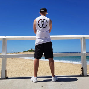 chillen chllen lifestyle wear kids white-black tank top singlet long black-white snapback hat