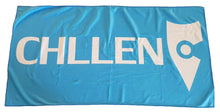 Load image into Gallery viewer, light blue beach towel microfibre microfiber lifestyle wear chllen chillen chillin