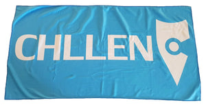 light blue beach towel microfibre microfiber lifestyle wear chllen chillen chillin