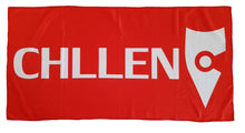 Load image into Gallery viewer, red white beach towel microfibre microfiber lifestyle wear chllen chillen chillin