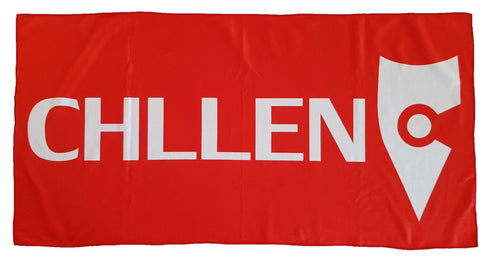 red white beach towel microfibre microfiber lifestyle wear chllen chillen chillin