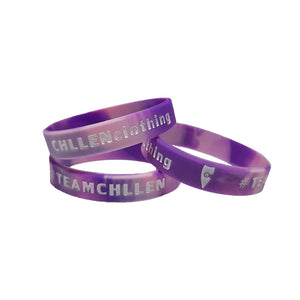chillen chllen lifestyle wear purple-white silicone wrist band marble