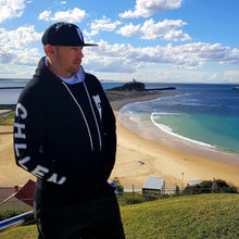 Load image into Gallery viewer, chillen chllen lifestyle wear stylish black-white jumper hoodie black-white snapback hat