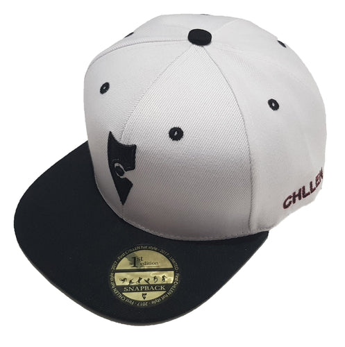 chillen chllen lifestyle wear white-black snapback hat 1st edition