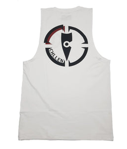 chillen chllen lifestyle wear white-black tank top singlet long