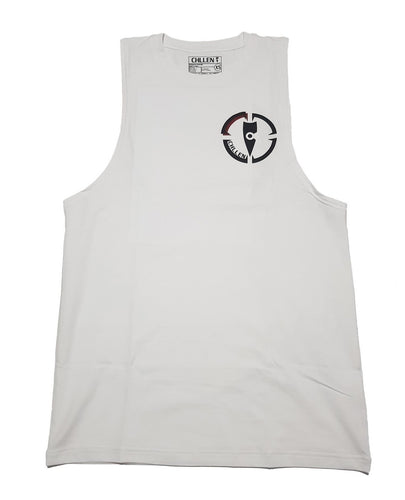 white tank top mens lifestyle wear chllen lifestyle wear white-black tank top singlet long