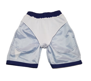 chillen chllen lifestyle wear blue-white board shorts boardies