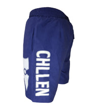 Load image into Gallery viewer, chillen chllen lifestyle wear blue-white board shorts boardies