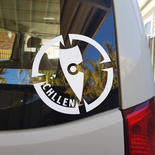 chillen chllen lifestyle wear white car decal sticker for window