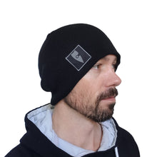 Load image into Gallery viewer, reversible black grey beanie chllen lifestyle wear chillen clothing chillin