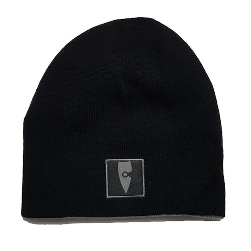 reversible black grey beanie chllen lifestyle wear chillen clothing chillin