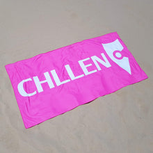 Load image into Gallery viewer, chllen lifestyle wear pink beach towel pink towel sand shots chllen clothing chillen