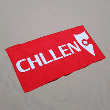 Load image into Gallery viewer, chllen lifestyle wear red beach towel red towel sand shots chllen clothing chillen