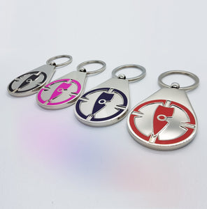 metal key ring blue key ring pink key ring black key ring red key ring chllen lifestyle wear streetwear bundle