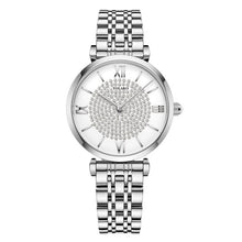 Load image into Gallery viewer, Gypsophila Diamond Design Women Watches Fashion Silver Round Dial Stainless Steel Band Quartz Wrist Watch Gifts relogiosfeminino
