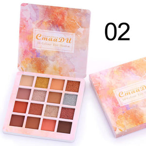 New 18 Colors Nude Glitter Eyeshadow Matte Shimmer Palette Long Lasting Waterproof Mineral Powder Eye Shadow Makeup Cosmetic Kit
