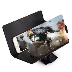 3D leather mobile phone video amplifier 8 inch HD eye protection treasure creative new lazy bracket magnifying glass video eye