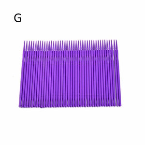 100pcs Disposable Colorful Cotton Swabs Eyelash Brushes Cleaning Swab Hot Natural Eyelashes Remover Tattoo Microbrush Kit