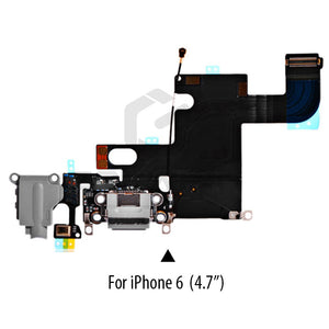 1 PCS Charging Port Dock USB Connector Flex For iPhone 5 5S 6 6S 7 8 Plus Headphone Audio Jack Microphone Flex cable