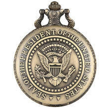Load image into Gallery viewer, Seal of the President of The United States of America White House Donald Trump Quartz Pocket Watch Art Collections for Men Women