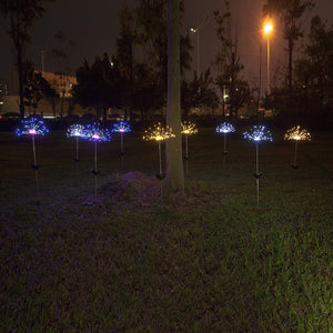 90/150 LED solar light eight function modes dandelion lawn lights / grass fireworks lamp /outdoor waterproof solar garden light