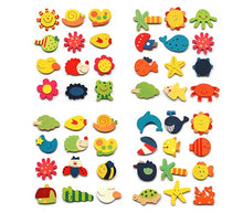 Load image into Gallery viewer, 1Set Wooden Refrigerator Magnet Fridge Stickers Animal Cartoon Alphabet Numbers Colorful Kids Toys for Children Baby Educational