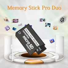 Load image into Gallery viewer, Support Memory Card Adapter Micro SD To Memory Stick Adapter For PSP Micro SD 1MB-128GB Memory Stick Pro Duo Adapter Convert