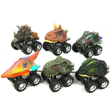 Load image into Gallery viewer, 6pcs 6 styles High-quality Children's Day Gift Toy Dinosaur Model Mini Toy Car Back Of The Car Gift Truck Hobby
