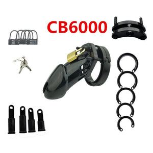 Male Chastity Device Cock Cage With 5 Size Rings Brass Lock Locking Number Tags Sex Toys CB6000