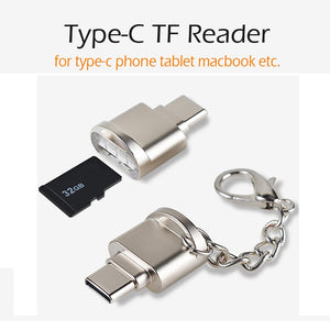 USB 3.1 Type C Card Reader USB-C TF Micro SD OTG Adapter Type-C Memory Card Reader For Samsung Macbook Huawei LeTV