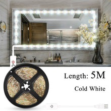 Load image into Gallery viewer, Makeup Vanity Mirror Light Strip Led USB Cable 5V Dimmable Dressing Table Lamp Tape Bathroom Make Up Cosmetic Mirror Lights Kit