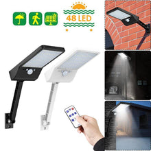 Load image into Gallery viewer, Upgraded 48 LED Remote Control Solar Light PIR Motion Sensor IP65 Outdoor Wall Street Lamp Waterproof Lamp Lights