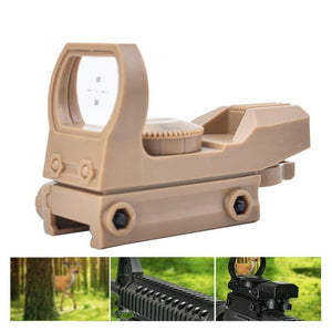 20mm Rail Riflescope Hunting Optics Holographic Red Dot Sight Reflex 4 Reticle Tactical Scope Collimator Sight Plastic