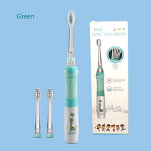 Load image into Gallery viewer, SEAGO Children Electric Toothbrush for 3-12 Ages Battery Children Toothbrush LED Sonic Kids Toothbrush with Timer 3 Nozzles