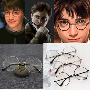 HP Vintage round frame Harri Potter Glasses Cosplay prop action figure toy glasses for children adults kids baby cosplay student