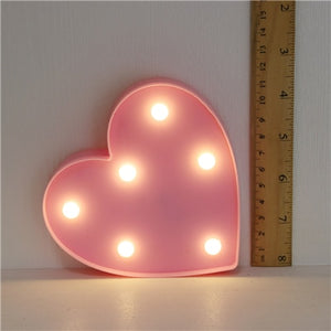 Cartoon Night Lights Unicorn/Flamingo/Cactus/Pineapple/Cloud/Star/Shell/Heart LED Table Lamp For Children's Bedroom Decoration