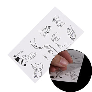 10.5*6cm 1 Sheet of Temporary Tattoo Sticker Fake Flash Tattoo Sticker Fingers Toes Body Art Sexy Waterproof Temporary Tattoo