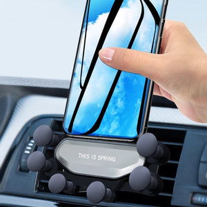 2019 New One Universal Car Phone Holder GPS Stand Gravity Stand For Phone in Car Stand No Magnetic For iPhone X 8 Xiaomi Support