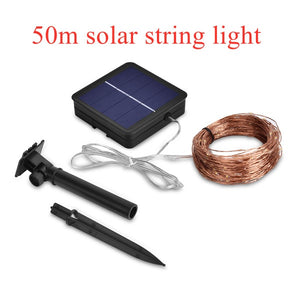 LED Outdoor Solar Lamps10m/20m/30m/50m LEDs String Lights Fairy Holiday Christmas Party Garlands Solar Garden Waterproof Lights