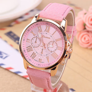 CAY Casual Leather Bracelet Wrist Watch Women Fashion White Ladies Watch Alloy Analog Quartz Watches relojes Relogio Feminino