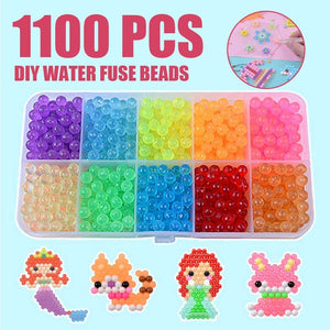 8000pcs Magic Puzzle Toys Water Mist Bead Set Boys Girls DIY Craft Animal Handmade Sticky Beads Educational Toys Kids Gifts