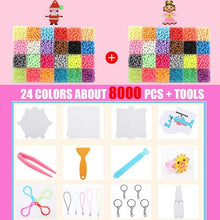 Load image into Gallery viewer, 8000pcs Magic Puzzle Toys Water Mist Bead Set Boys Girls DIY Craft Animal Handmade Sticky Beads Educational Toys Kids Gifts