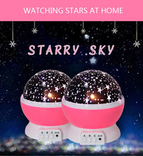 Load image into Gallery viewer, Novelty Luminous Toys Romantic Starry Sky LED Night Light Projector Battery USB Night Light Creative Birthday Toys For Children